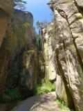 Chemin, gorge dans des roches de pach-Teplice de ¡ d'AdrÅ, République Tchèque photos libres de droits