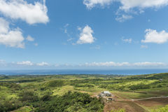 CHEMIN GRENIER, MAURITIUS - NOVEMBER 29, 2015: Vallee des Couleurs Landscape in Mauritius. National Park. Ocean in Background Stock Images