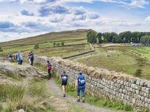 Chemin le Northumberland R-U du mur de Hadrian images libres de droits