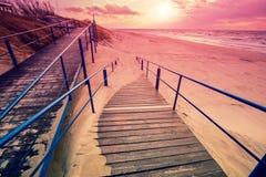 Chemin menant à la plage Photo libre de droits