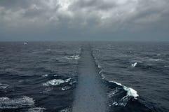 Croisement d'océan de route de mer Images libres de droits