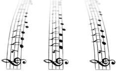 Chemin musical Image libre de droits