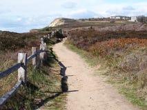 Chemin par les falaises Images stock