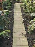 Chemin pavé de jardin Photos libres de droits