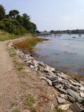 Chemin près du port Images stock
