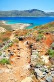 Chemin rocheux vers le bas à la mer Images libres de droits