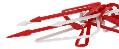 Chemin rouge et blanc de flèche illustration de vecteur