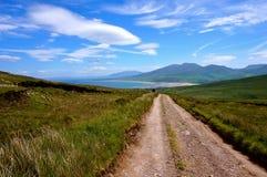 Chemin sur la montagne en Irlande photo libre de droits