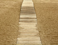 Chemin sur le sable Image stock
