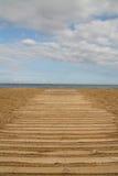 Chemin sur le sable Image libre de droits