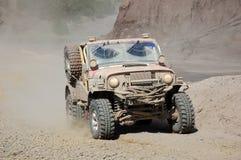 Chemin tous terrains de jeep Photographie stock