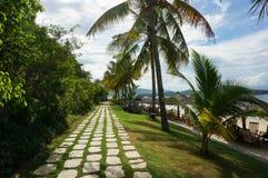 Chemin tropical de plage image libre de droits
