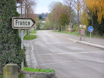 Chemin vers la France Images libres de droits
