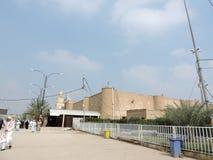 Chemin vers la grande mosquée de Koufa, Najaf, Irak images libres de droits