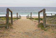 Chemin vers la mer Photo stock