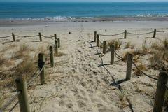 Chemin vers la mer Photos libres de droits