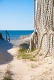 Chemin vers la mer baltique photos stock