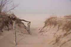 Chemin vers la mer baltique image libre de droits