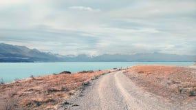 Chemin vers le lac photo stock