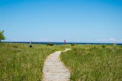 Chemin vers le lac Michigan photos libres de droits