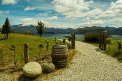 Chemin vers le lac Wanaka Image stock