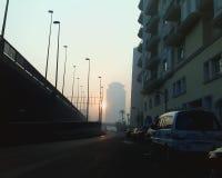 Chemin vers le Nil tôt le matin images stock