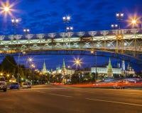 Chemin vers Moscou Kremlin Image libre de droits