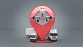 Cheminement de GPS Photo stock