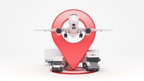 Cheminement de GPS Photographie stock libre de droits