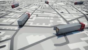 Cheminement de GPS rendu 3d Photo stock
