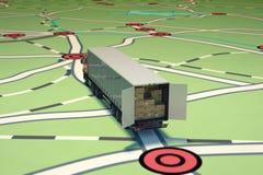 Cheminement et expédition de GPS rendu 3d Image libre de droits