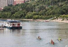 Chemins de bateau de dragon Photographie stock libre de droits