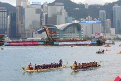 Chemins de bateau de dragon de Hong Kong Int'l 2010 Images libres de droits