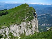 Chemins de bord de falaise sur des BEC de Les Trois photos libres de droits