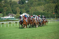 Chemins de cheval à Deauville Image stock