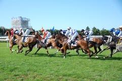 Chemins de cheval de Deauville Photos stock