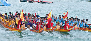 Chemins de Dragonboat Photo libre de droits