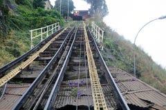 Chemins de fer funiculaires d'Artilleria à Valparaiso, Chili Images stock