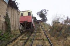 Chemins de fer funiculaires d'Artilleria à Valparaiso, Chili Photo stock