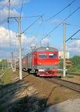 Chemins de fer russes de train électrique à Moscou Photographie stock libre de droits