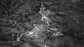Chemins de l'Andalousie photographie stock libre de droits