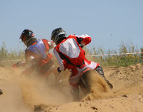 Chemins de moto Photographie stock libre de droits