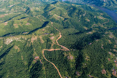 Chemins de terre de vallées de côtes d'air Photo libre de droits