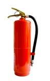 Chemisch die brandblusapparaat op witte achtergrond wordt geïsoleerd Stock Foto