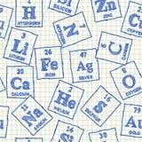 Chemisch elementen naadloos patroon vector illustratie