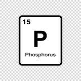 chemisch elementenfosfor vector illustratie