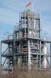 Chemisch fabriek en oliedepot Royalty-vrije Stock Foto's