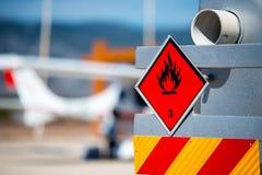 Chemisch gevaar, brandbare vloeistoffen stock afbeelding