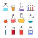 Chemisch glaswerkpictogram Stock Foto's