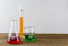 Chemisch laboratoriumglaswerk Royalty-vrije Stock Fotografie